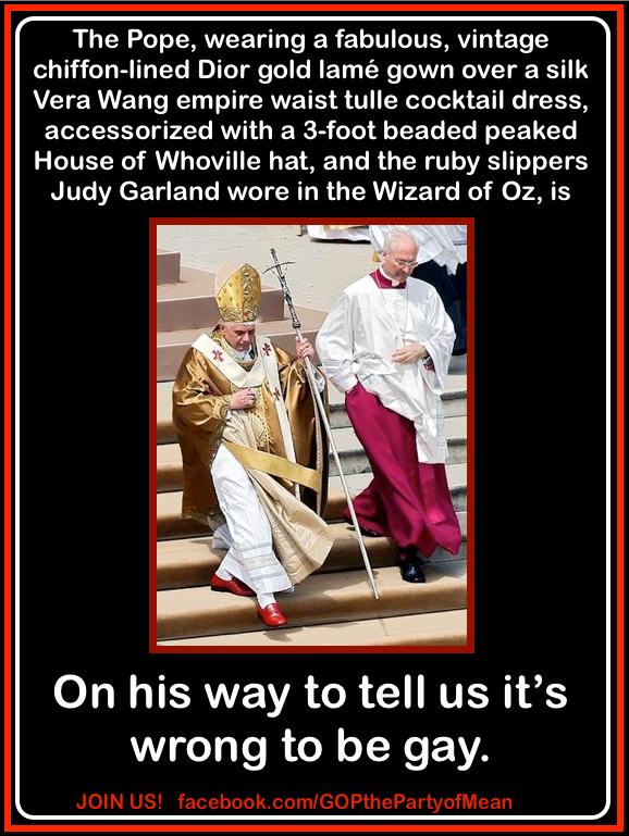 Is The Pope Gay?