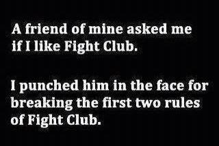 The First Rule Of Fight Club Is?