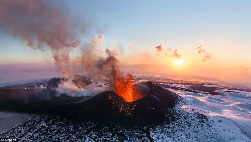 The Plosky Tolbachik Volcano Erupting In Russia