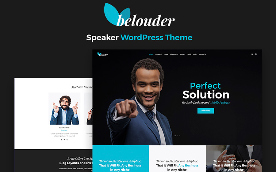 Belouder - Business & Service Responsive WordPress Theme