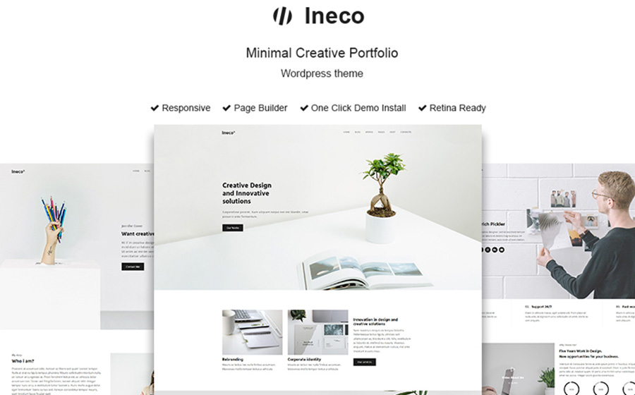 Ineco Minimal Creative Portfolio WordPress Theme