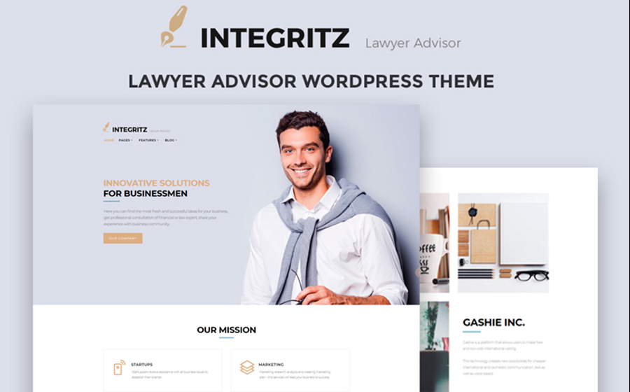 Integritz - Responsive Law Firm Elementor WordPress Theme